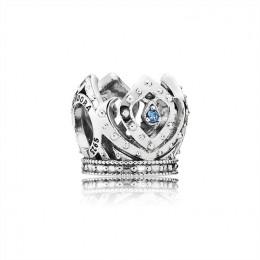 Pandora Jewelry Disney-Elsa's Crown Charm-Blue CZ 791588CZB