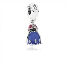 Pandora Jewelry Disney-Anna's Dress Dangle Charm-Mixed Enamel 791591ENMX