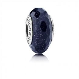 Pandora Jewelry Midnight Blue Stardust Murano Charm 791628