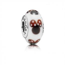 Pandora Jewelry Classic Disney Minnie Charm-Murano Glass 791634