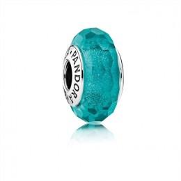 Pandora Jewelry Teal Shimmer Charm-Murano Glass 791655
