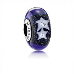 Pandora Jewelry Starry Night Sky Charm-Murano Glass & Clear CZ 791662CZ