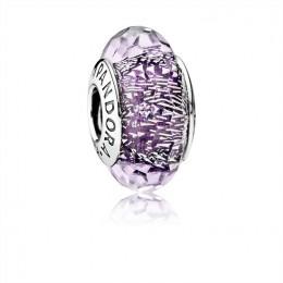Pandora Jewelry Dark Purple Shimmer Charm-Murano Glass 791663