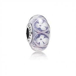 Pandora Jewelry Purple Field of Flowers Charm-Murano Glass 791667