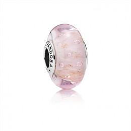 Pandora Jewelry Pink Glitter Charm-Murano Glass 791670