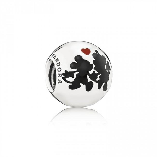 Pandora Jewelry Disney-Minnie & Mickey Forever Charm-Mixed Enamel 791700ENMX