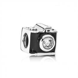 Pandora Jewelry Sentimental Snapshots Charm-Clear CZ & Black Enamel 791709CZ