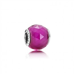 Pandora Jewelry Geometric Facets Charm-Synthetic Ruby 791722SRU