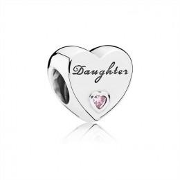 Pandora Jewelry Daughter's Love Charm-Pink CZ 791726PCZ