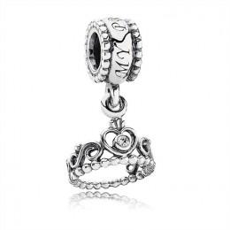 Pandora Jewelry My Princess Tiara Silver Hanging Charm-791738CZ