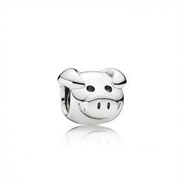 Pandora Jewelry Playful Pig Silver Charm 791746