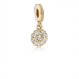 Pandora Jewelry 14ct Gold Embellished Floral Charm 791757CZ