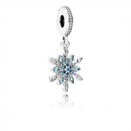 Pandora Jewelry Crystallised Snowflake Pandora Jewelry Hanging Charm 791761NBLMX