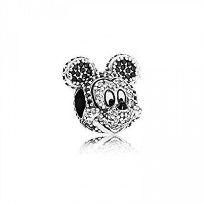 Pandora Jewelry Disney Sparkling Mickey Portrait Charm 791795NCK