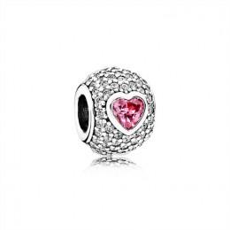 Pandora Jewelry Captivating Pave Heart Charm 791815CZS