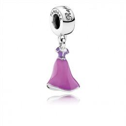Pandora Jewelry Disney-Rapunzel's Dress Dangle Charm-Mixed Enamel 791819ENMX