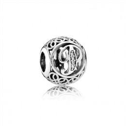 Pandora Jewelry Vintage P-Clear CZ 791860CZ