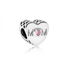 Pandora Jewelry Mother Heart Charm-Pink CZ 791881PCZ