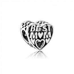 Pandora Jewelry Best Mother Openwork Heart Charm 791882