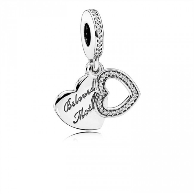 Pandora Jewelry Beloved Mother Dangle Charm-Clear CZ 791883CZ