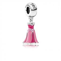Pandora Jewelry Disney-Aurora's Dress Dangle Charm-Mixed Enamel 791921ENMX