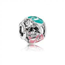 Pandora Jewelry Disney-Aurora's Fairy Godmothers Charm-Mixed Enamel 791923ENMX