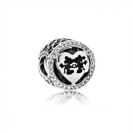 Pandora Jewelry Disney-Mickey & Minnie Love-Charm Clear CZ 791957CZ