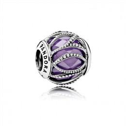 Pandora Jewelry Intertwining Radiance-Purple & Clear CZ 791968ACZ