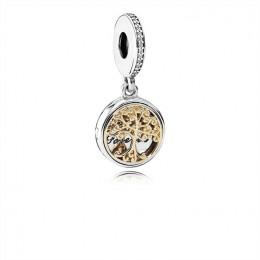 Pandora Jewelry Family Roots Dangle Charm-Clear CZ 791988CZ