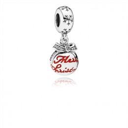 Pandora Jewelry Merry Christmas Bauble Pendant Charm 792008CZ