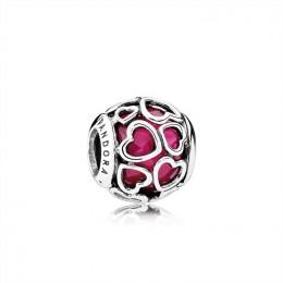 Pandora Jewelry Cerise Encased in Love Charm-Cerise Crystal 792036NCC
