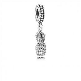 Pandora Jewelry Dazzling Dress Dangle Charm-Clear CZ 792062CZ