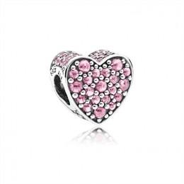 Pandora Jewelry Pink Dazzling Heart Charm-Pink CZ 792069PCZ
