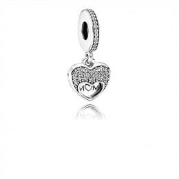 Pandora Jewelry I Love My Mom Dangle Charm-Clear CZ 792071CZ