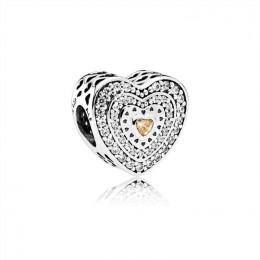 Pandora Jewelry Lavish Heart Charm-Fancy-Colored & Clear CZ 792081FCZ