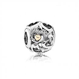 Pandora Jewelry Heart of Romance Charm-Clear CZ 792108CZ