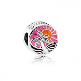 Pandora Jewelry Tropical Sunset Charm-Mixed Enamel & Clear CZ 792116ENMX
