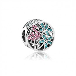 Pandora Jewelry Tropical Flamingo-Light Green Crystals & Multi-Colored CZ 792117CZS