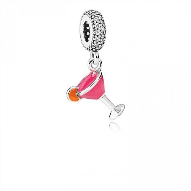 Pandora Jewelry Fruity Cocktail Dangle Charm-Mixed Enamel & Clear CZ 792153ENMX