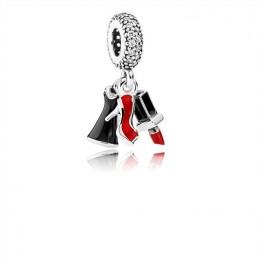 Pandora Jewelry Glamour Trio Dangle Charm-Mixed Enamel & Clear CZ 792156ENMX