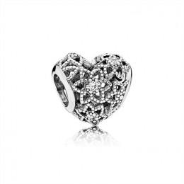 Pandora Jewelry Blooming Heart Charm-Clear CZ 796264CZ