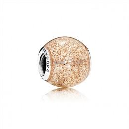 Pandora Jewelry Glitter Ball Charm-Rose Golden Glitter Enamel 796327EN145