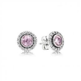 Pandora Jewelry Brilliant Legacy Stud Earrings-Pink & Clear CZ 290553PCZ