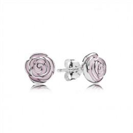 Pandora Jewelry Pink Rose Garden Silver Stud Earrings-Pandora Jewelry 290554EN40