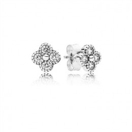 Pandora Jewelry Oriental Blossom Stud Earrings-Clear CZ 290647CZ