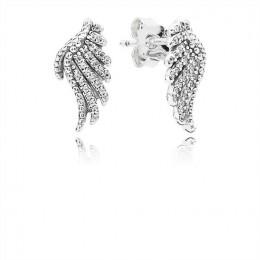 Pandora Jewelry Majestic Feathers Stud Earrings-Clear CZ 290581CZ