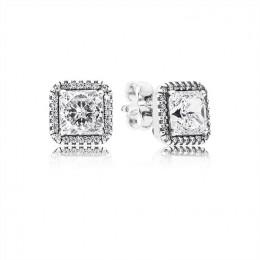 Pandora Jewelry Timeless Elegance Stud Earrings-Clear CZ 290591CZ