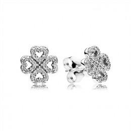 Pandora Jewelry Petals of Love Stud Earrings-Clear CZ 290626CZ