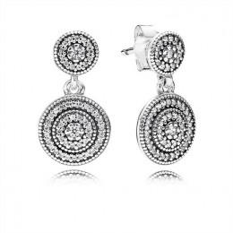 Pandora Jewelry Radiant Elegance Drop Earrings-Clear CZ 290688CZ