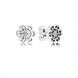 Pandora Jewelry Floral Daisy Lace Stud Earrings 290692
